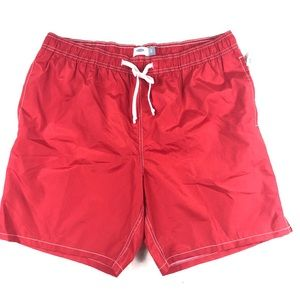 Old navy mens red swimming trunks size xl